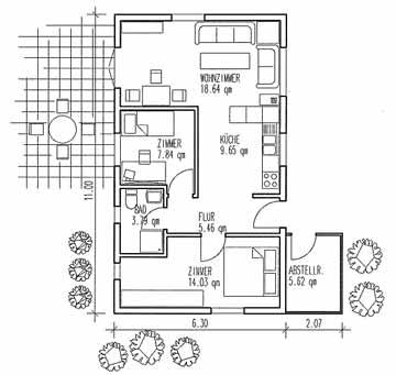 v rder holzhaus vh70 75. Black Bedroom Furniture Sets. Home Design Ideas