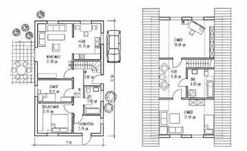 v rder holzhaus vh70 92. Black Bedroom Furniture Sets. Home Design Ideas